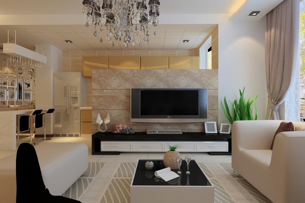 现代客厅电视背景墙设计图