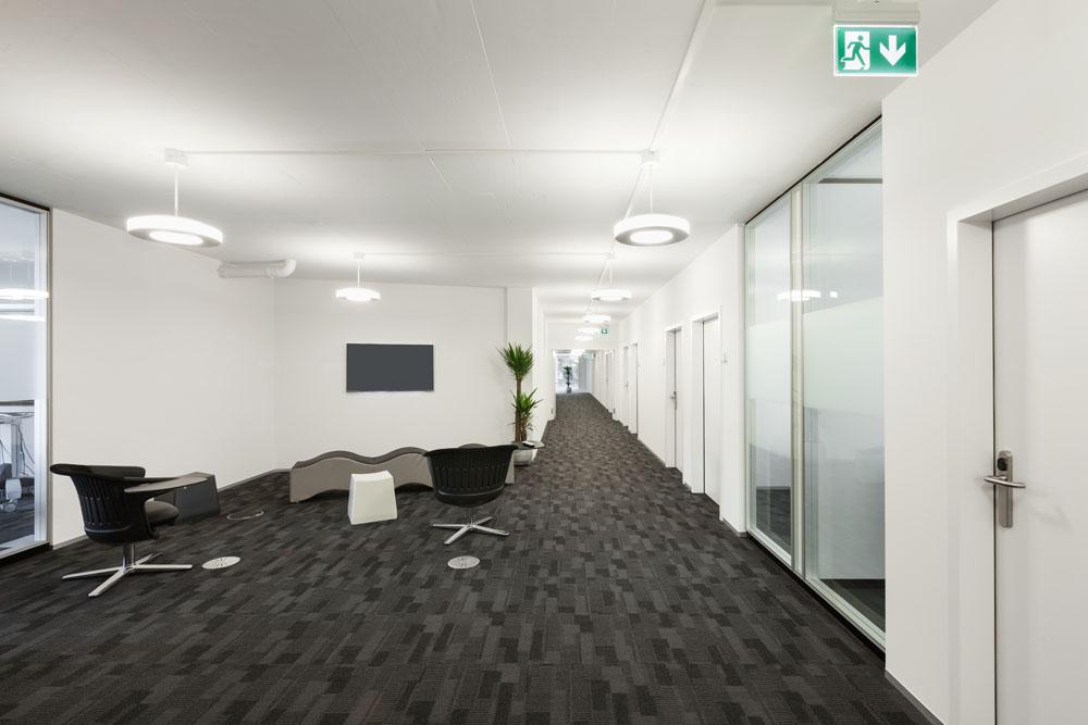 简约时尚办公环境大厅设计图片