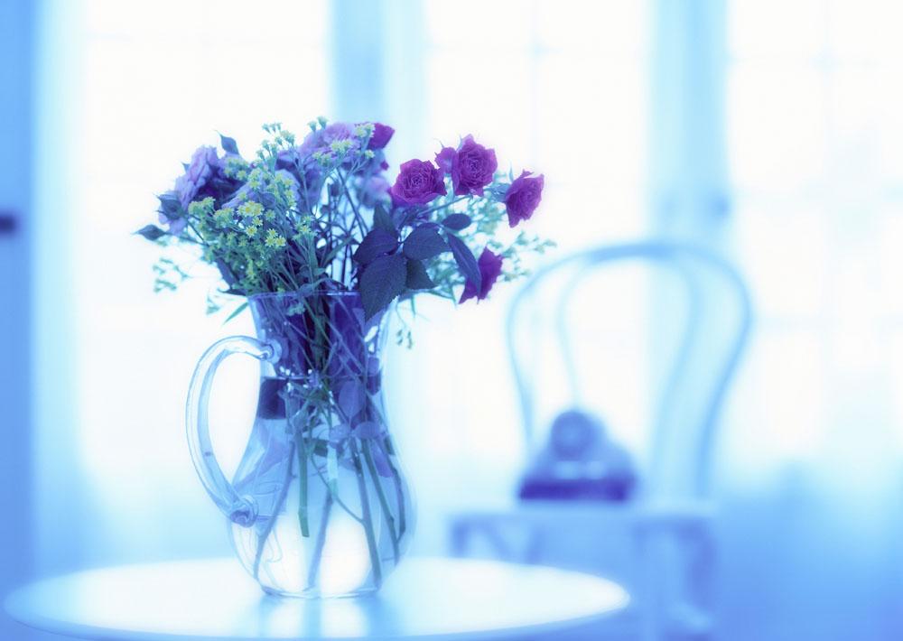 书桌花背景素材