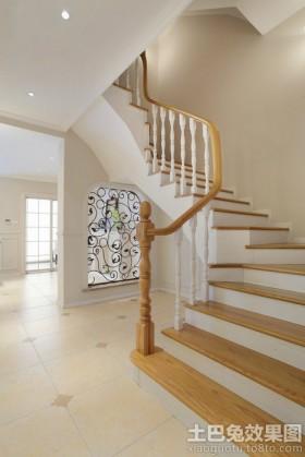 家庭别墅楼梯设计效果图片