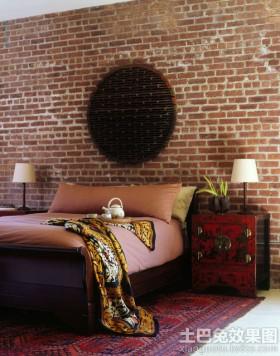 卧室中式文化砖贴图