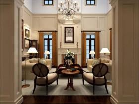 唯美配色客厅装修效果图片
