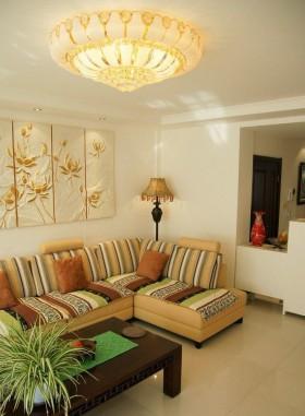 新中式客厅吸顶灯吊顶效果图