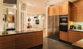 欧式别墅厨房不锈钢橱柜装修效果图
