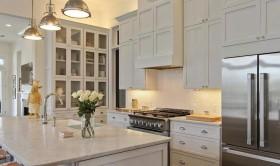 欧式厨房不锈钢橱柜装修