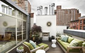 室外露天阳台装修 无框阳台装修效果图