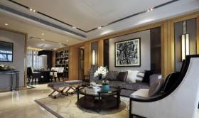 欧式家装风格二居室客厅整体效果图