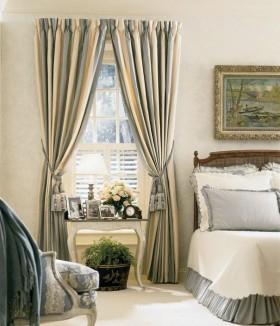 欧式阳台窗帘装修效果图图片