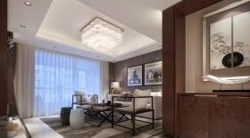 客厅吊顶装修水晶吸顶灯图片