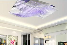 客厅方形led吸顶灯效果图