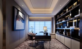 欧式风格书房装修效果图大全2015图片欣赏