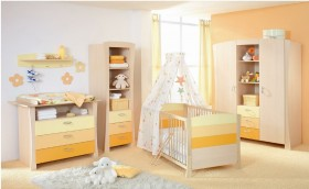 简约儿童房婴儿床装修效果图2015