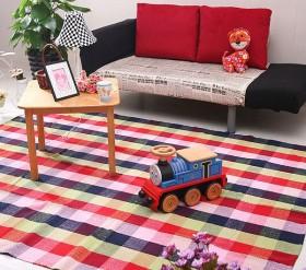 家装客厅手工编织地垫图片