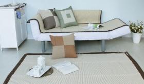简约客厅手工编织地垫图片