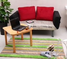 客厅手工编织地垫图片