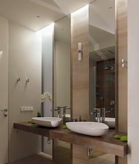 20平现代简约卫生间装修效果图片