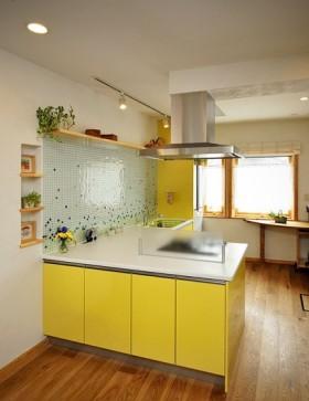 简约时尚开放式厨房效果图
