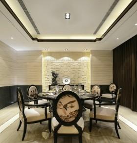 简约欧式风格两室一厅餐厅装修效果图