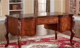 欧式复古根雕书桌图片