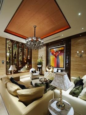 家庭客厅吊顶装修效果图