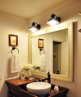 洗手台镜前灯效果图