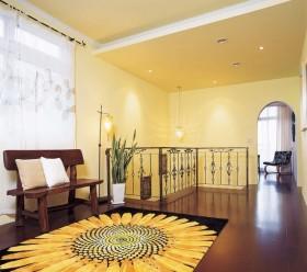 东南亚风格室内楼梯间地垫效果图