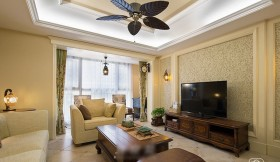 美式风格客厅电视背景设计