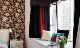 现代田园卧室飘窗装修