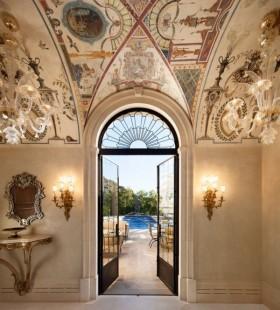 豪華歐式風格設計室內門圖片