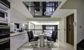 现代豪华复式设计餐厅吊顶图片大全