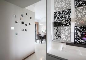 现代简约三居室隔断装修案例
