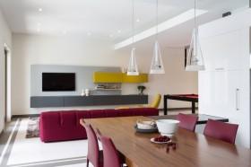 南迈阿密的别墅装修风格三室两厅现代简约客厅餐厅装修效果图设计欣赏