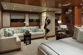 舒适奢华的新中式风格三室一厅新中式主卧装修效果图设计欣赏