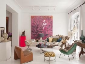 很精致很有家的味道 美式别墅装修设计三室一厅欧式客厅装修效果图设计欣赏
