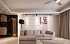 简单深与浅 饱满北欧精神三室两厅欧式客厅装修效果图设计欣赏