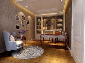 罗马家园现代风格别墅380平米LOFT现代简约书房装修效果图设计欣赏