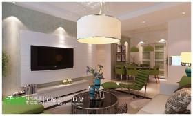 美加印象 芜湖宅速美装饰 110平 现代简约三室两厅现代简约客厅装修效果图设计欣赏