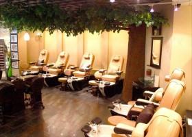 欧式现代美发店室内装修图片