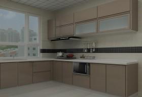 现代简约厨房家电效果图