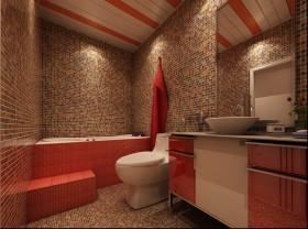 简约婚房卫生间马桶设计效果图
