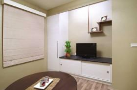 运用柜体、层架的设计,微量的禅意,给予空间舒适的生