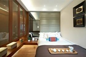中式小卧室整体衣柜家装效果图