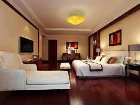 原木素材新古典风格卧室装修设计