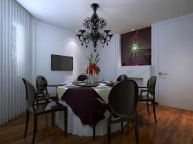 简约造型新古典风格浪漫餐厅装修设计