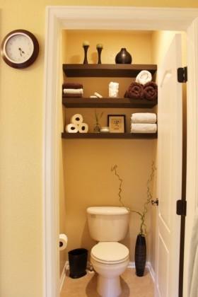 现代简约卫生间洁具闲置壁橱改造的客卫
