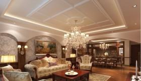 石膏板客厅吊顶造型