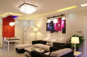 简约客厅led吸顶灯装饰图片