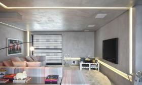 2015客厅石膏板电视背景墙装修效果图欣赏