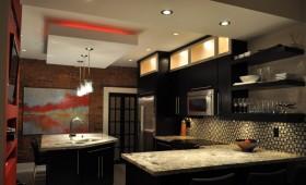 厨房石膏板吊顶装修效果图