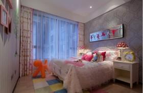 135平毛坯房现代简约雅居三室两厅现代简约儿童房装修效果图设计欣赏